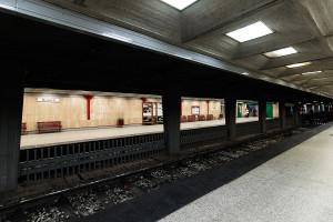 Bahnsteig des nördlichen Földalatti-Termins Mexikói út