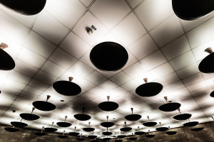 Illumination of metro hub Deák Ferenc tér
