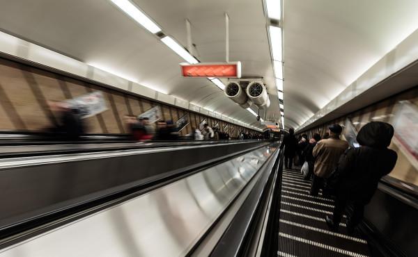 Ritt auf der Rolltreppe