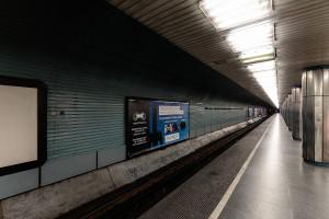 Tunnel tube and platform of Deák Ferenc tér station