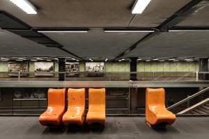 Interieur im Bahnhof Nagyvárad tér