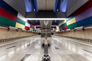 Symmetry of Móricz Zsigmond körtér station