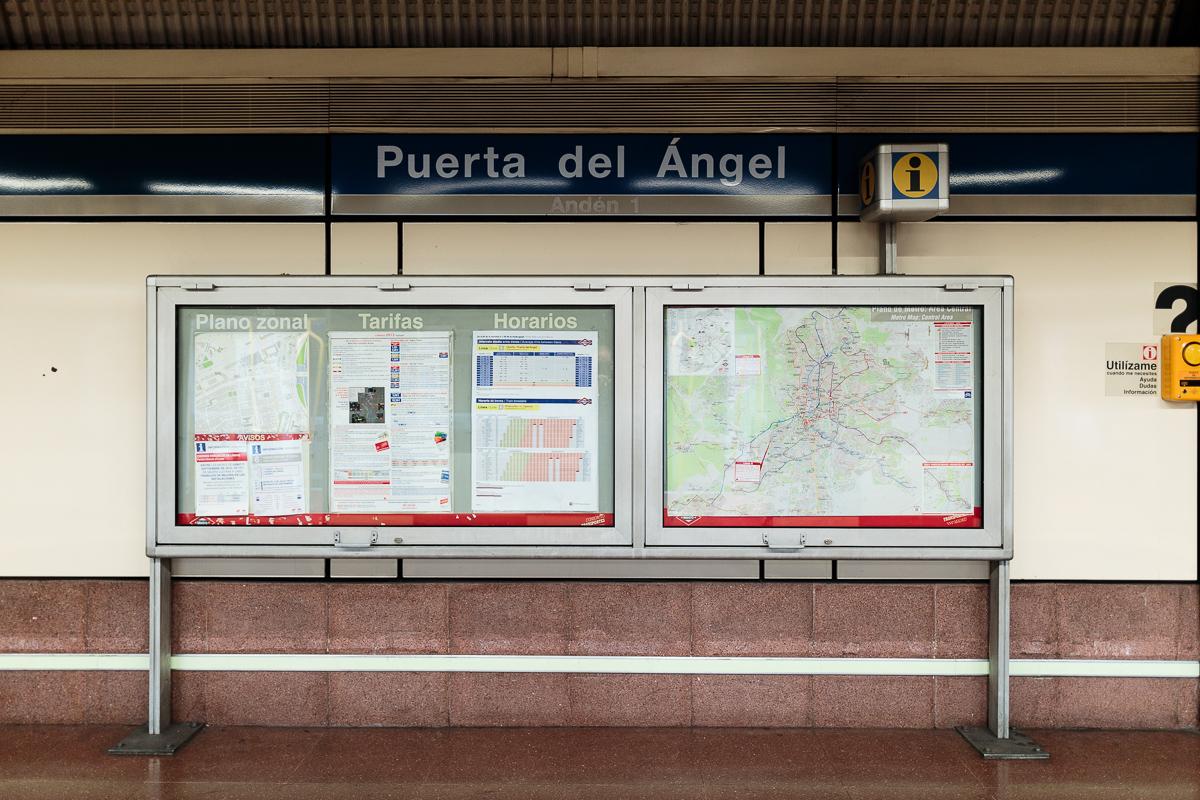 Metro de madrid l nea 6 puerta del ngel for Puerta 6 del autodromo